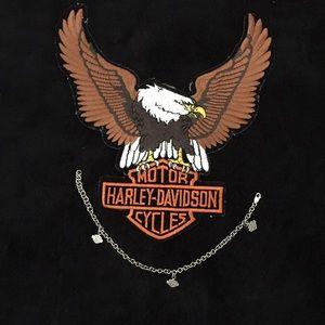 Harley Davidson Sterling Silver Ankle Bracelet